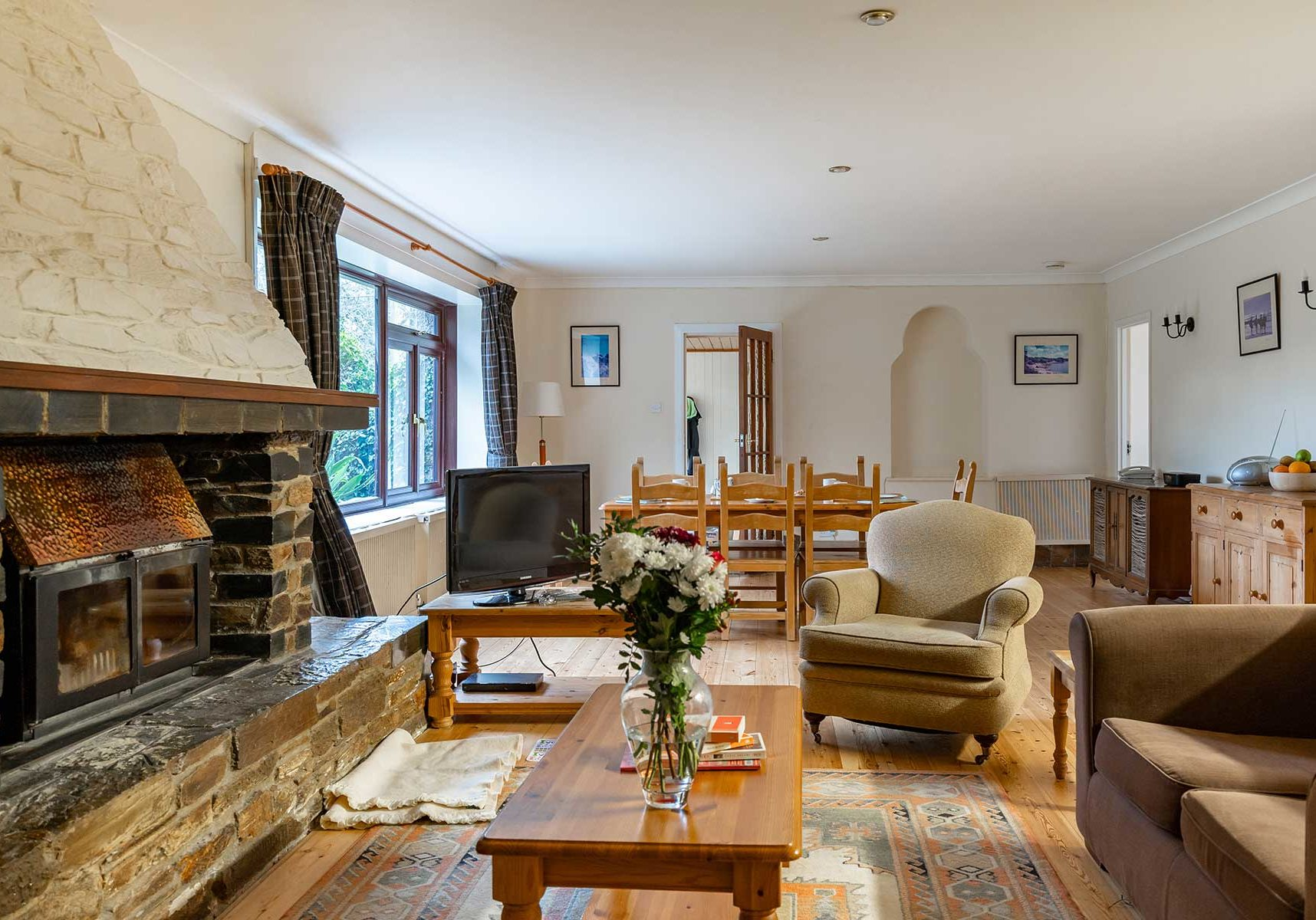 Beavers Lodge holiday cottage Living Area